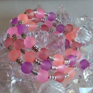 bracelet rosé lilas