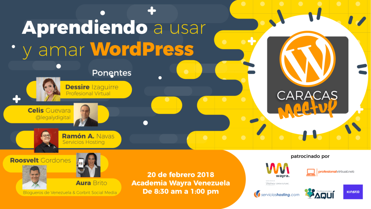 ¡Se activó la comunidad WordPress en Caracas! 1er WordPress MeetUp