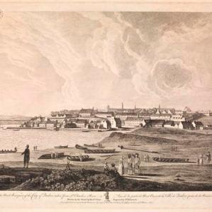 Vue de la partie de nord ouest de la ville de Québec prise de la rivière St. Charles / drawn on the spot by Richd. Short ; engraved by P. Benazech