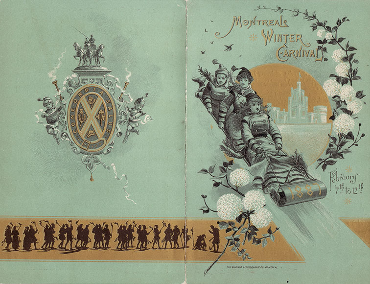 Montreal Winter Carnival, 1887 [official programme], Montréal, Burland Lithographic Co., 1887, 4 p.