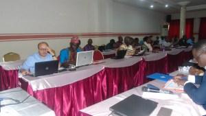 Vue partielle des participants à l'atelier de Porto-Novo Photo : J. A. Noumonvi