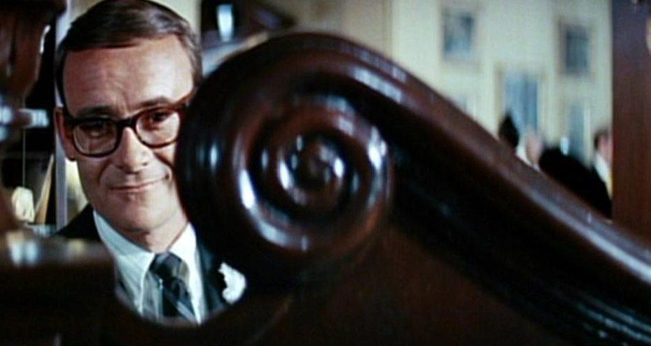 """Cameo del guionista Buck Henry en la película """"El Graduado""""."""