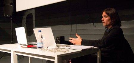 El guionista Rafael Cobos en la sala Borau de Matadero, en Madrid.