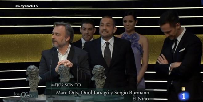 Mejor Sonido - Goyas 2015