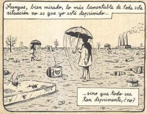 """Del útimo cómic de Miguel Brieva, """"Lo que está pasando"""" (Reservoir Books)."""