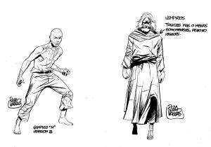 Diseños de personajes.