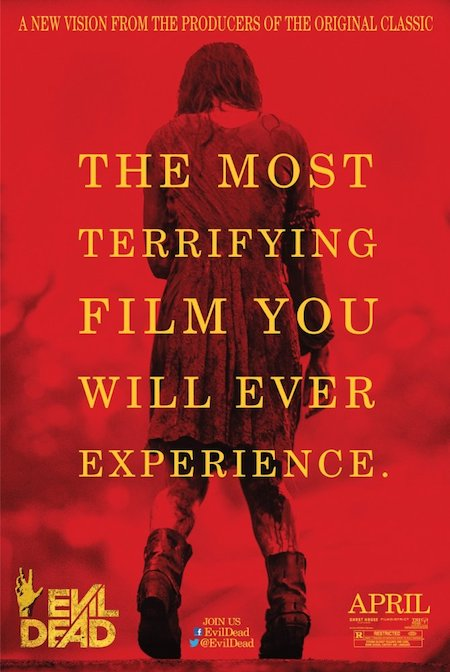 Cartel promocional de Evil Dead