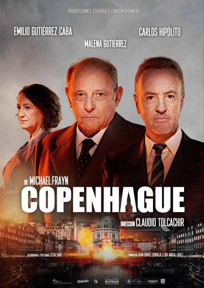 Poster obra de teatro Copenhague de Michael Frayn dirigida por Claudio Tolcachir