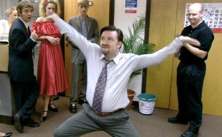 El guionista y actor Ricky Gervais en The Office