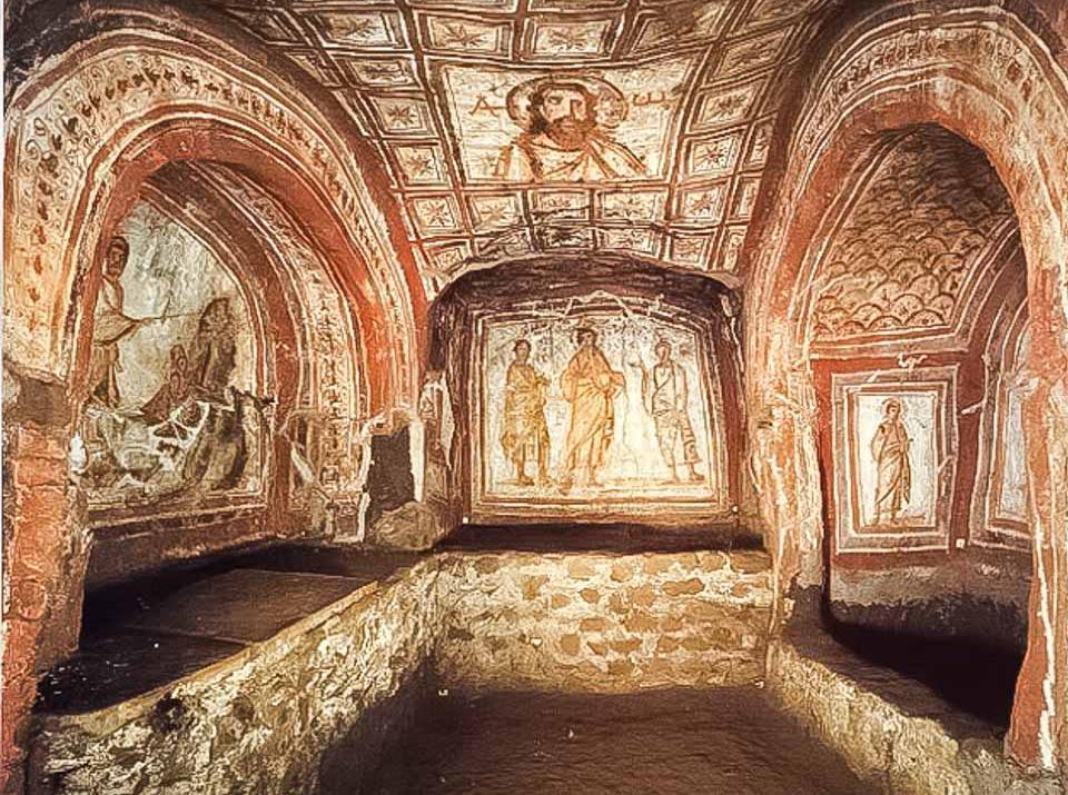 Catacombele Domitillei din Roma