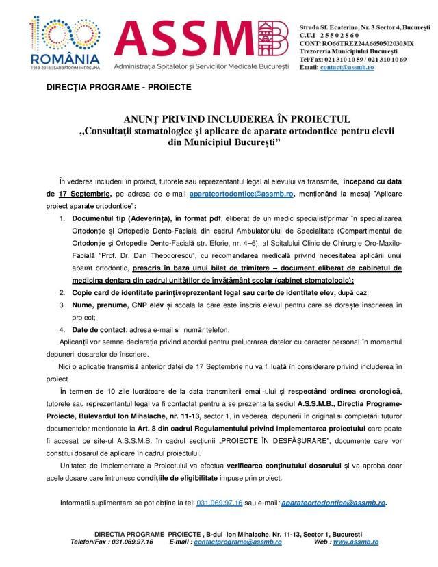 ACTE Proiect Aparate-Ortodontice