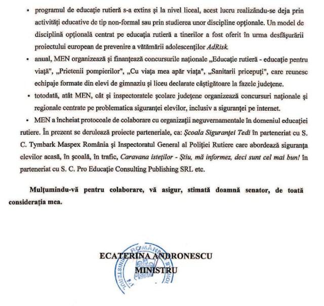 Raspuns Ministerul Educatiei Nationale campania #OreDeSigurantaInScoli - pag1