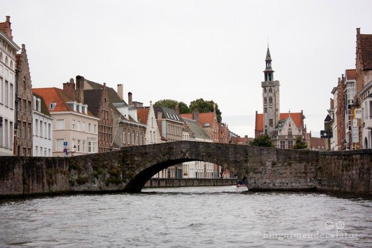 Brugge- pod vazut din barca