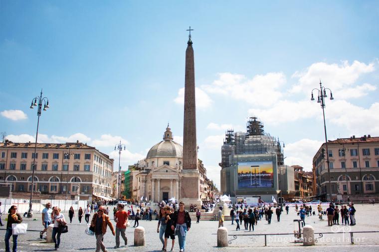 obeliscul din piata popolo