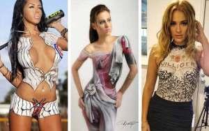 Body painting mirip baju asli