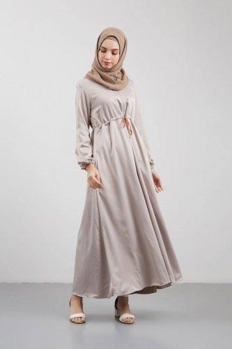 Syaheera Gizella Dress Moca - Model Baju Gamis Terbaru dan Terpopuler