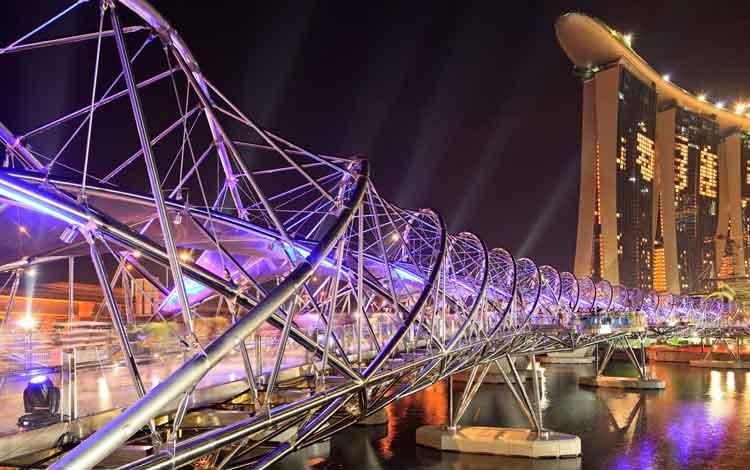 Jembatan Terindah Di Dunia - Jembatan The Helix