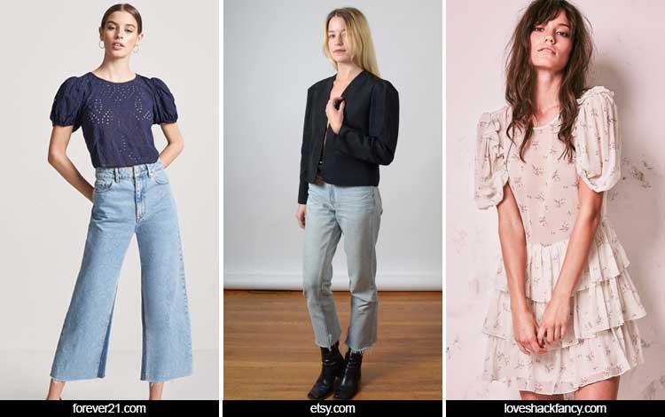 Trend Fashion Wanita 2019 - Puff shoulders