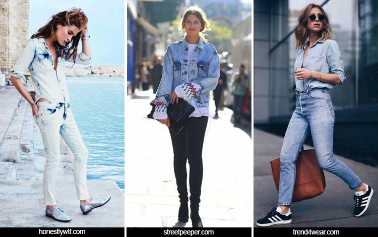 Trend Fashion Wanita 2019 - Washed out denim