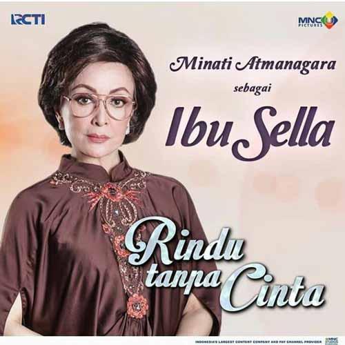 Daftar Pemain Sinetron Rindu Tanpa Cinta RCTI Terlengkap - Minati Atmanegara sebagai Sella