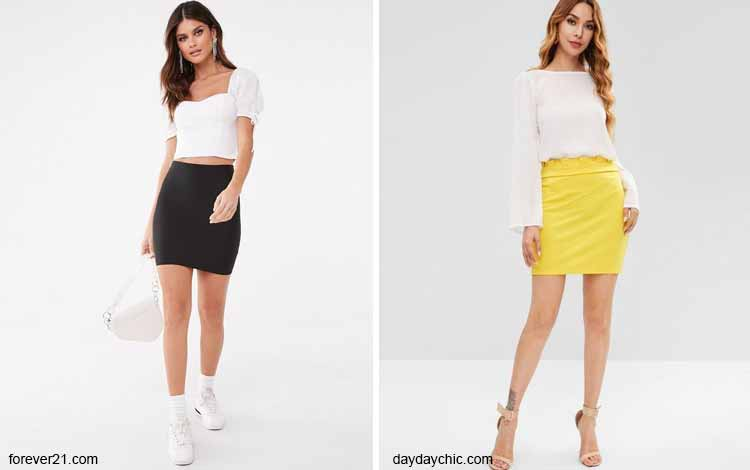 Tampil Fashionable Dengan Rok Mini - Mini tube skirt