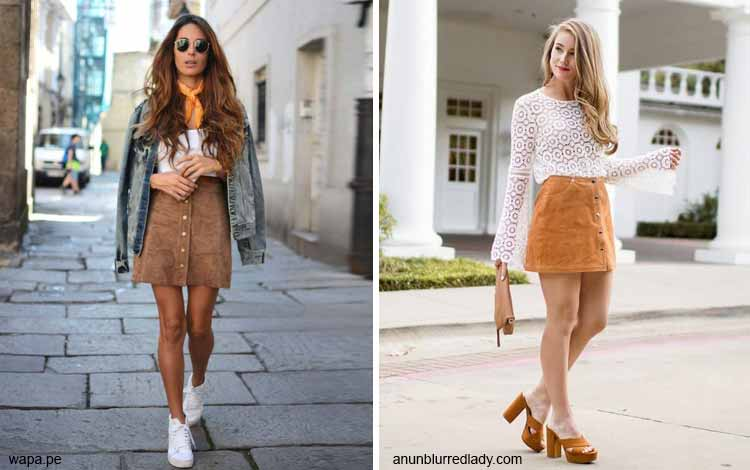 Tampil Fashionable Dengan Rok Mini - Mini camel skirt