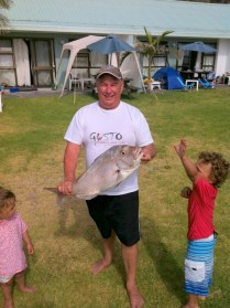 John enjoys a spot of fishing!