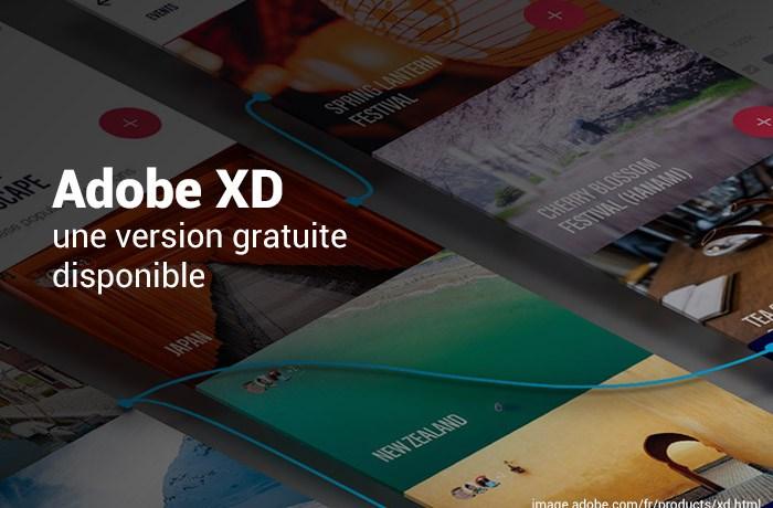 Version gratuite d'Adobe XD
