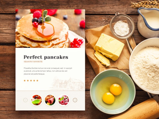 bakery website 635x476 - Inspiration UX design - Food site