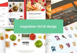 Inspiration UI autour des applications mobile food