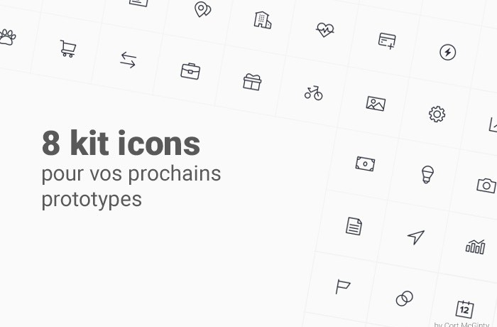 8 kits icons gratuit pour vos templates d'application