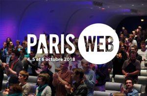 Paris-web 4, 5 et 6 octobre 2018