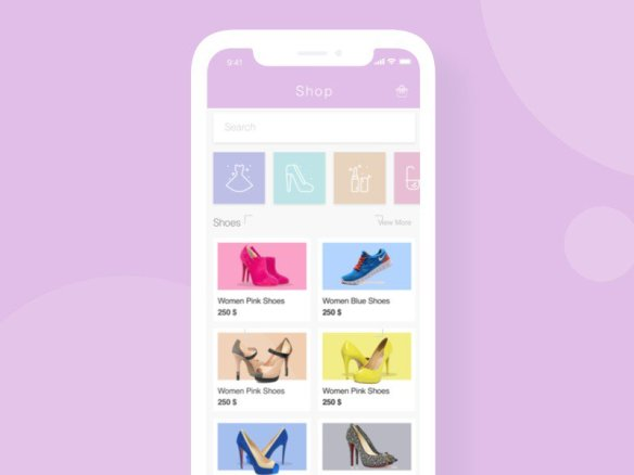preview2 - 5 inspiration UI - Shop mobile