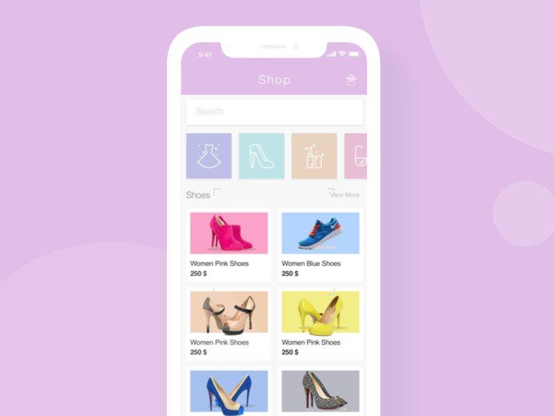 preview2 - 5 inspiration UI - Shop mobile