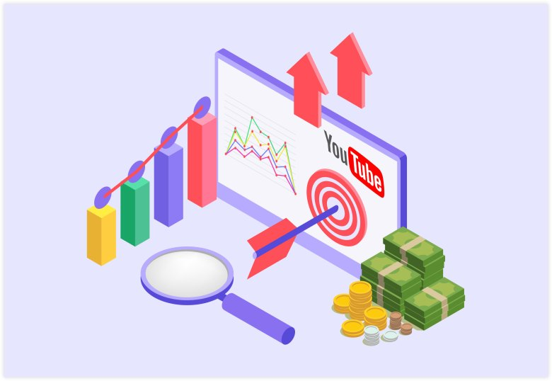 Marketing di YouTube - Video SEO Strategy Illustration