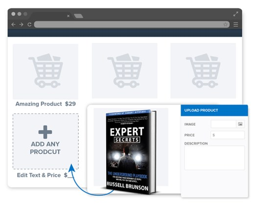 Dashboard for adding e-commerce products.