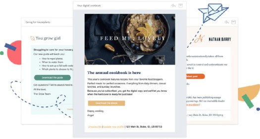 Stylish email templates for the Convert kit autoresponder.