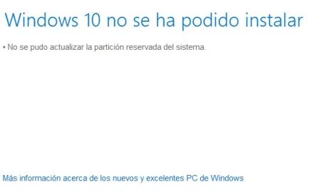Windows 10 error partición