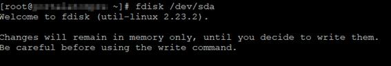 Linux LVM fdisk /dev/sda
