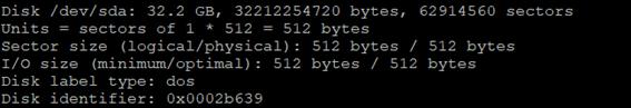 Linux LVM fdisk -l