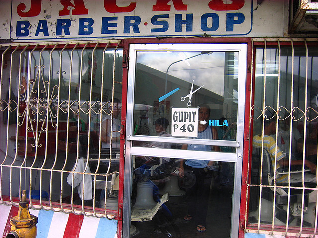 barber shop in the Philippines