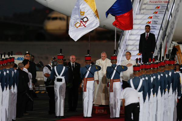 Pope Francis arrival