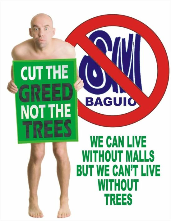 we can live without malls but we can't live without trees