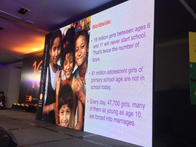 16 million girls between ages 6 and 11 will never start school (twice that of boys). 61 million adolescent girls of primary school are are not in school today. Every day, 47,700 girls, many as young as 10, are foced into marriages.