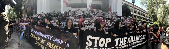 students walkout