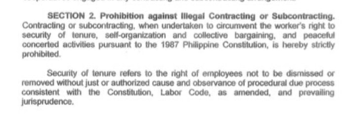 prohibition on illegal contacting or subcontracting