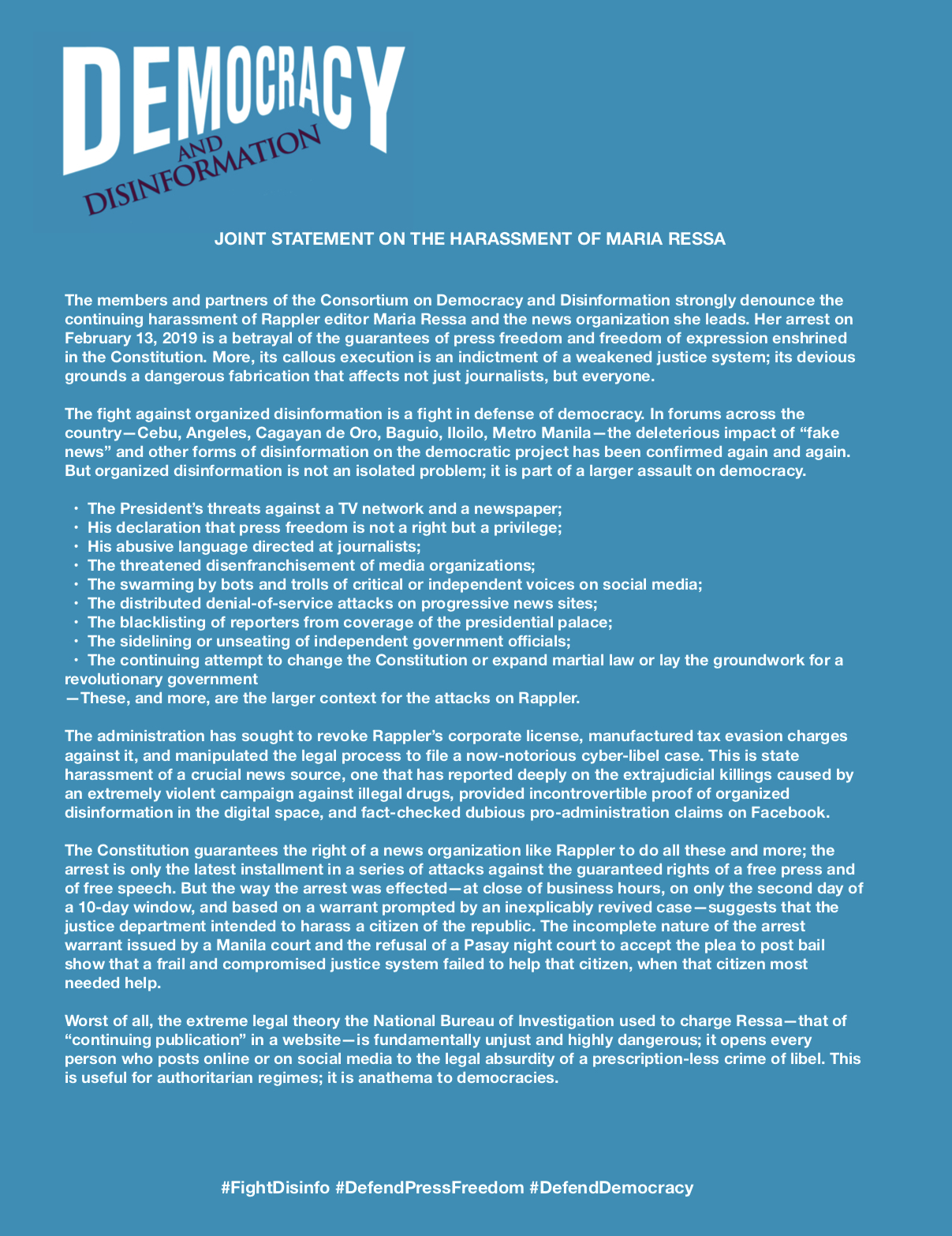 DnD Press statement 1-15Feb2019