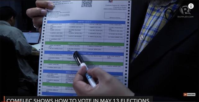 comelec how to vote copy