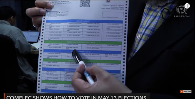 how to vote in may 13 elections