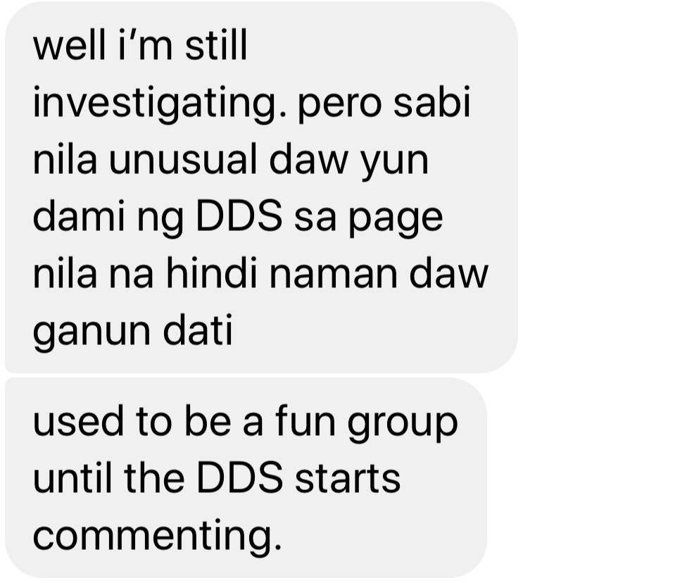 dds commenting